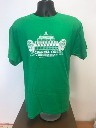 Channel One T-Shirt  LIONS - Gildan Cotton Green/White print (Various sizes)